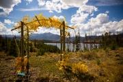 The wedding site overlooking Lake Dillon in Colorado