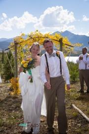 Bride and groom married