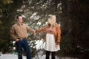 Winter engagement photo in Breckenridge Colorado