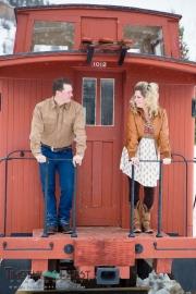 Winter engagement photo in Breckenridge Colorado