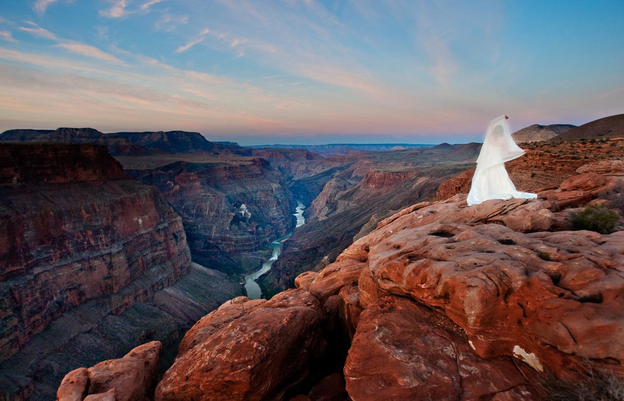 Bride at the Grand Canyon