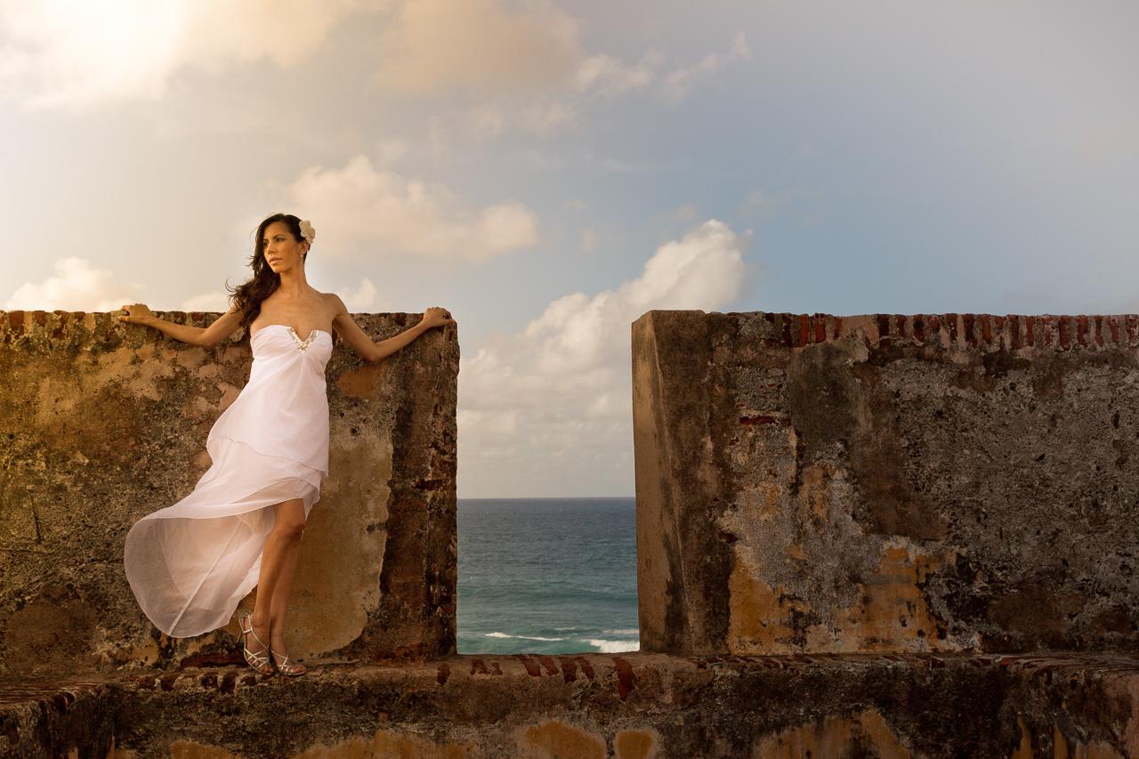Bride in Old San Juan