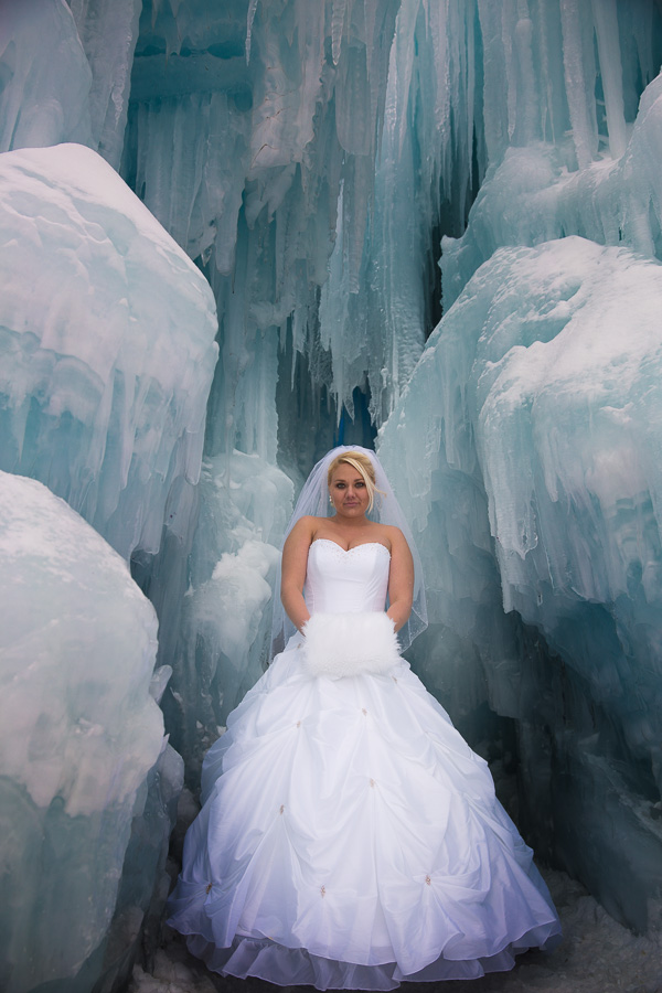 Ice castle portrait