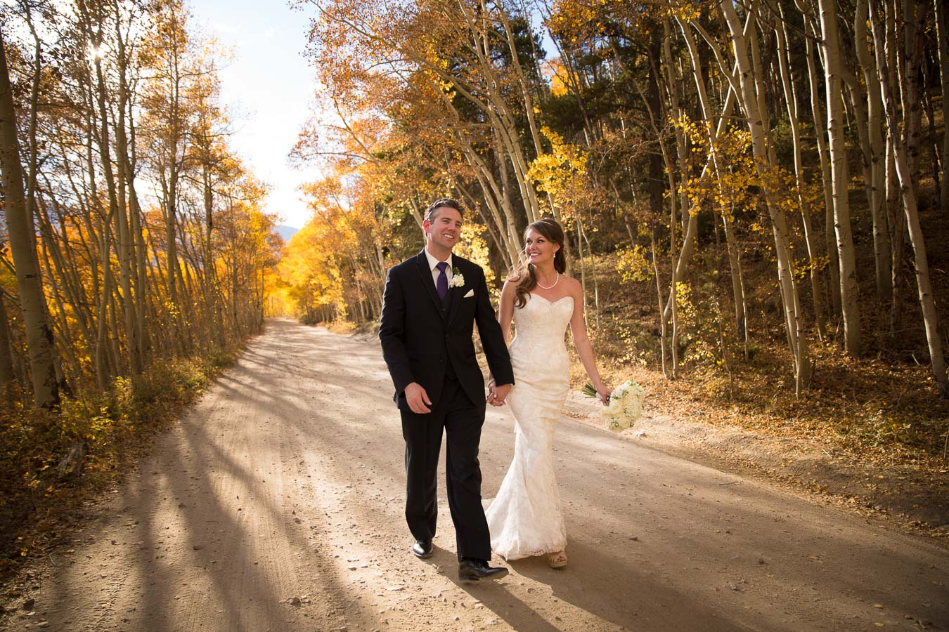 Bride Groom fall breck