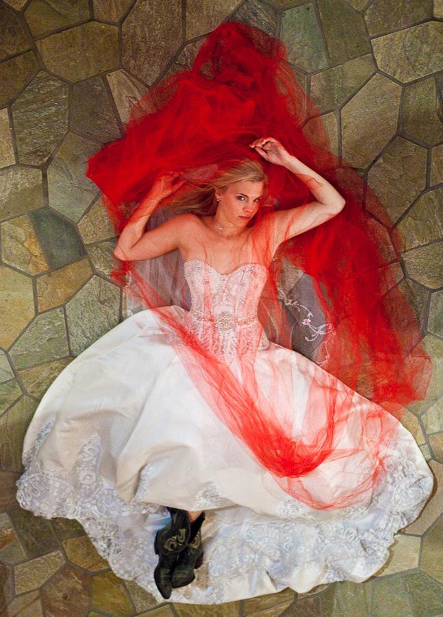 Fashion inspired wedding portrait