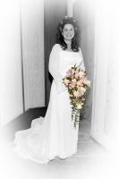 Selective Color Portrait with white vignette