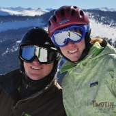 Skiing together in Vail