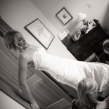 The bride getting ready