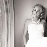 Window light portrait of the bride