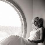 Abstract window light portrait of bride