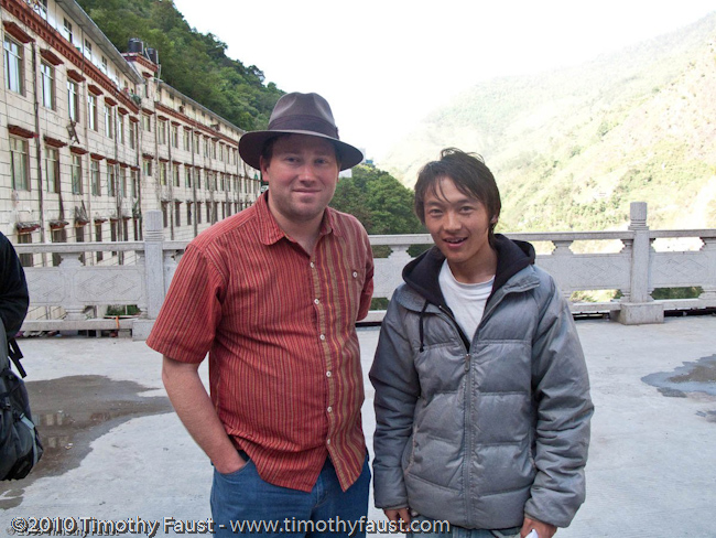 Timothy with guide in Tibet