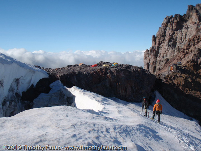 Timothy climbing Mount Rainier