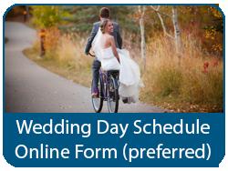 Wedding Day Schedule Online Form