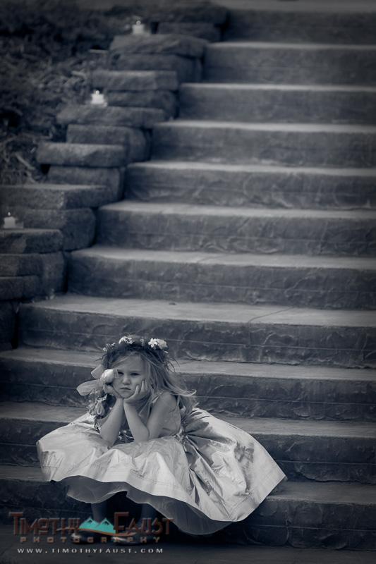 Flower girl aspen colorado wedding