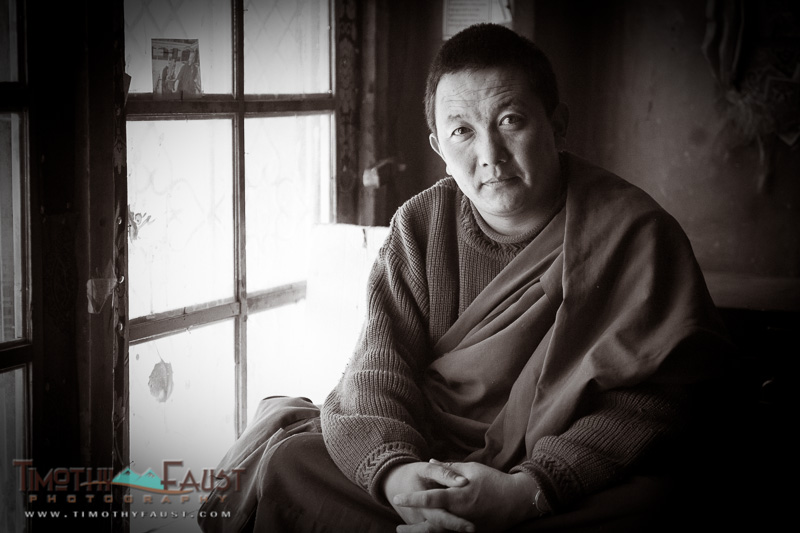 Buddhist Monk in Potala Palace, Lhasa, ibet