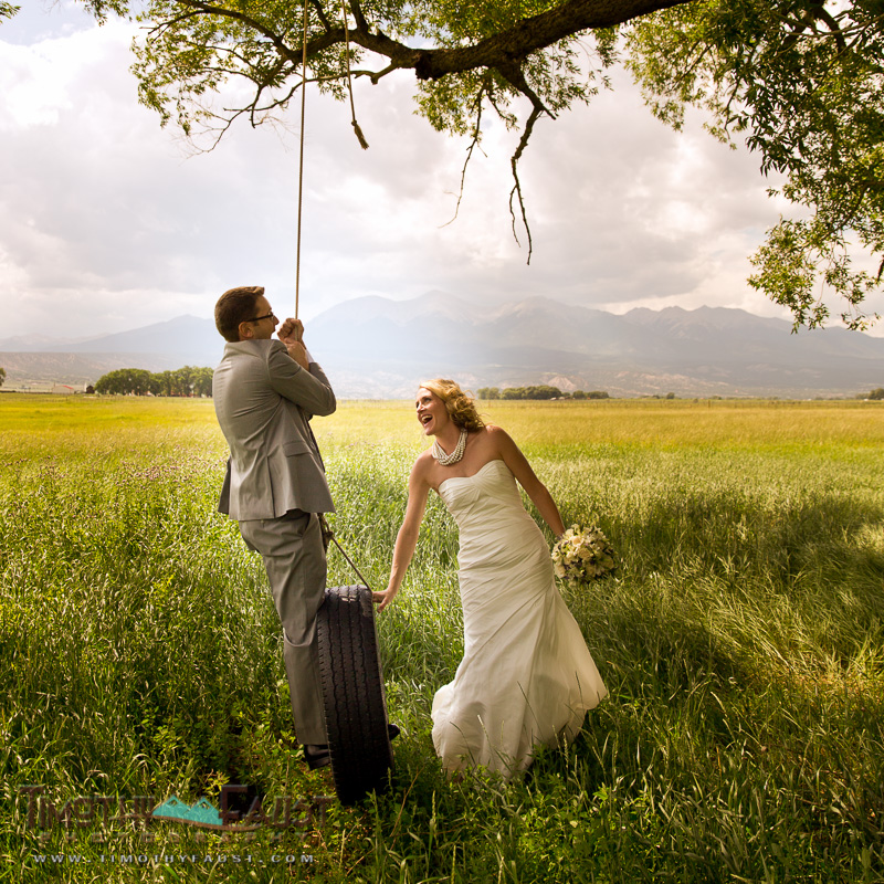 Summer Wedding Tire Swing
