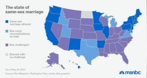 Status of marriage equality in the U.S.