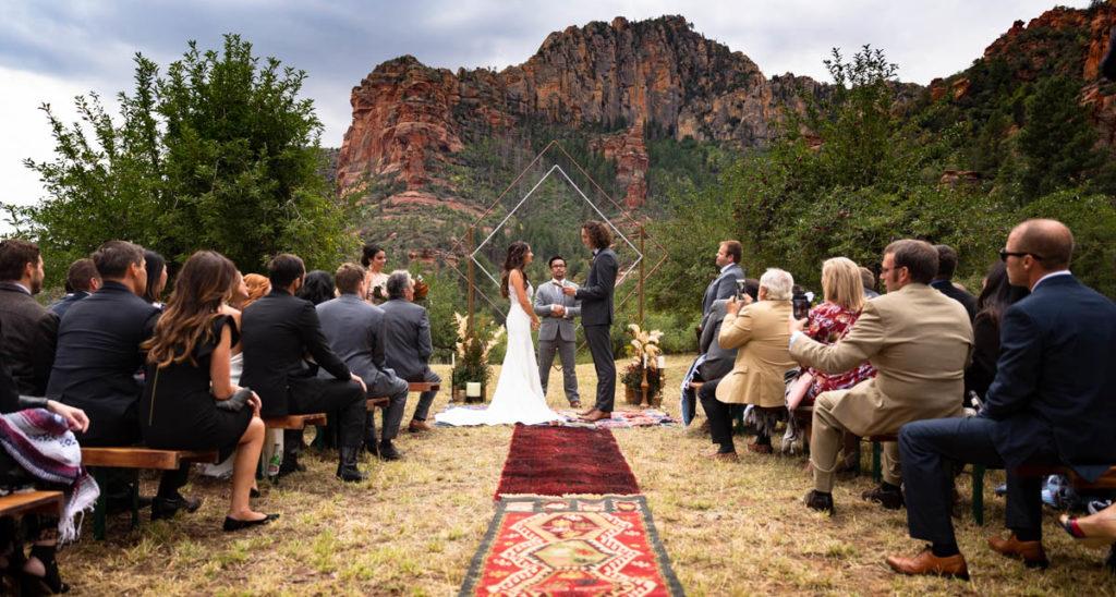 Destination wedding ceremony in Sedona Arizona.
